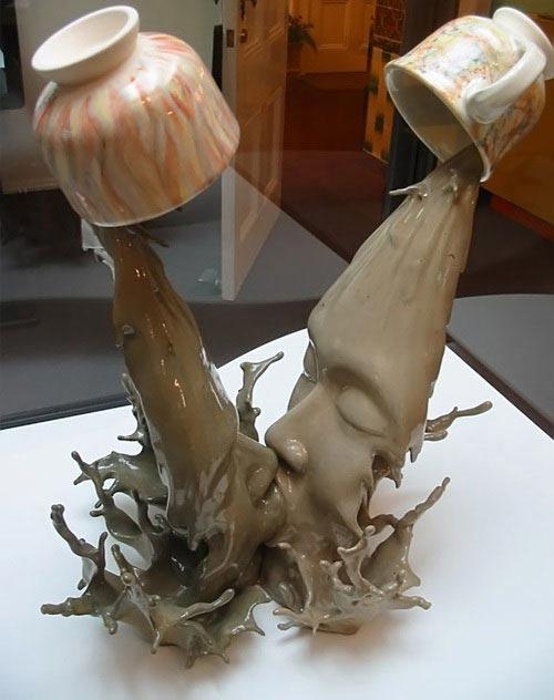 Le baisé - Sculpture