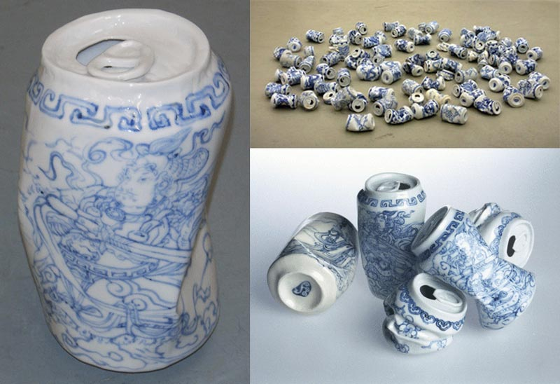 2007 Porcelain pieces by Lei Xue