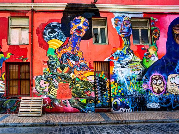 graffitis à valparaiso