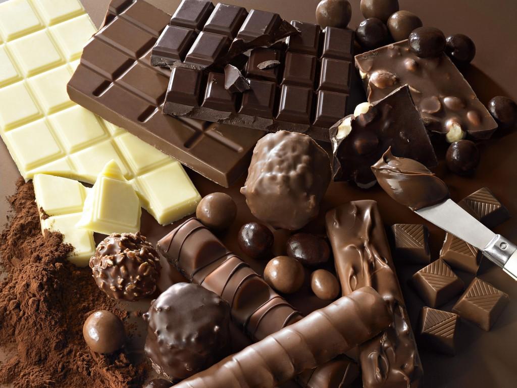 manger du chocolat à la fin d'un repas