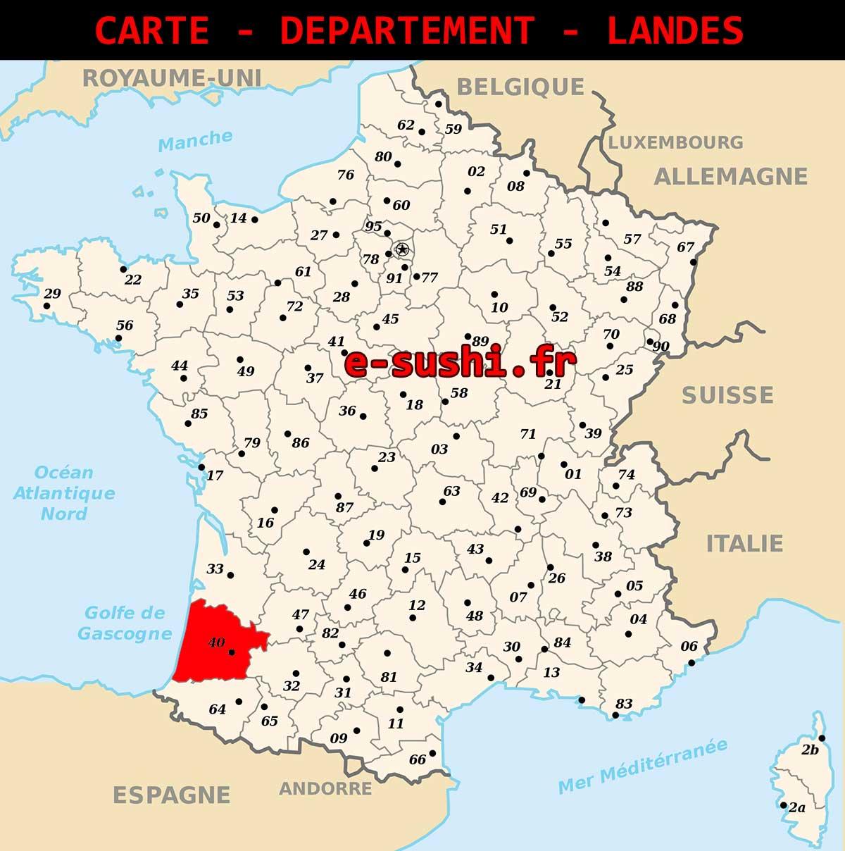 Carte – Département Landes