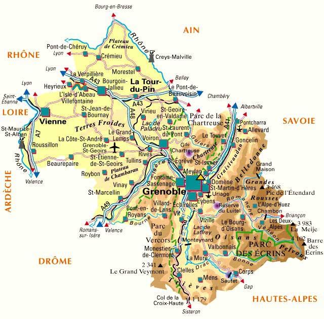Carte – Département Isère