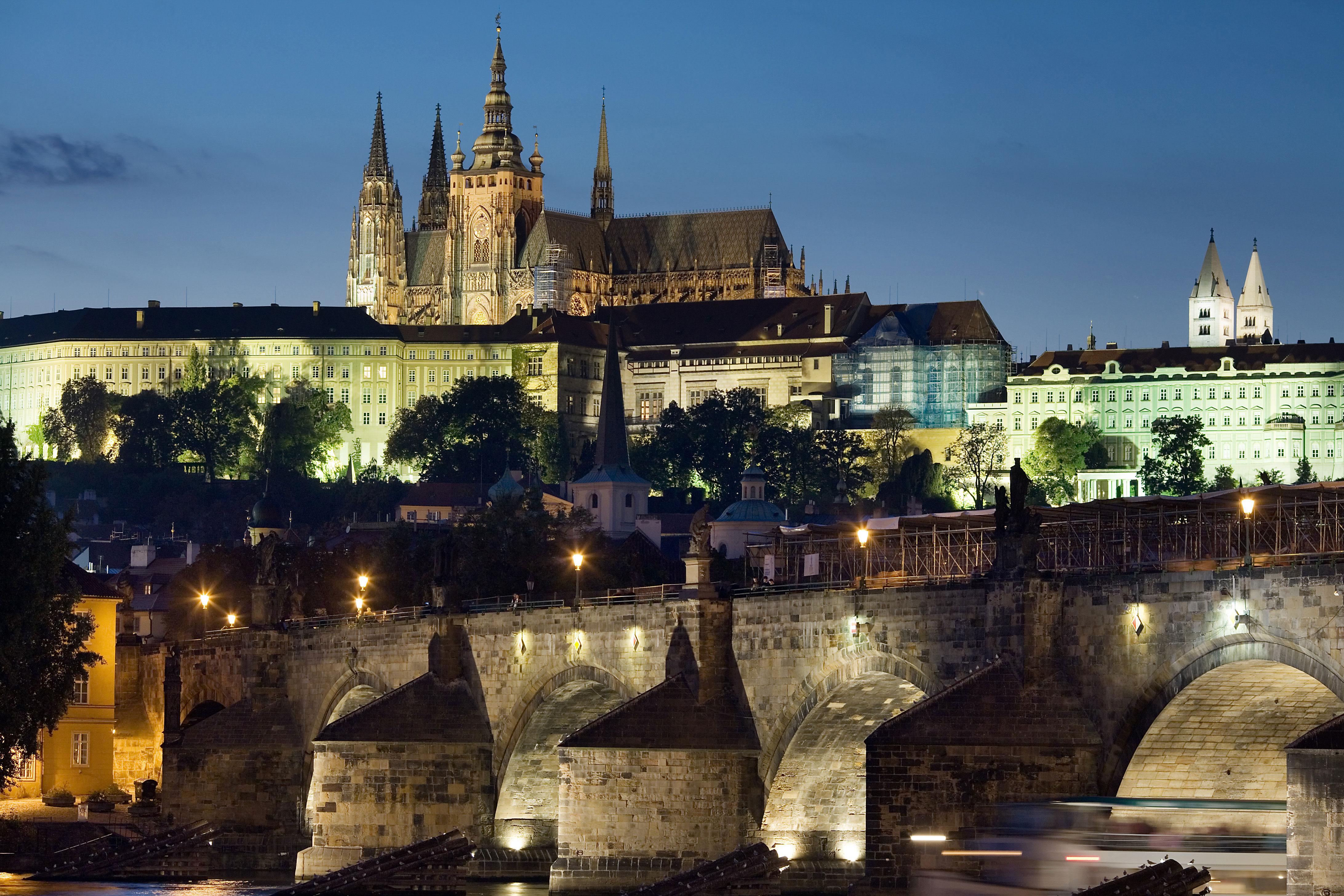 Photo d'une nuit à Prague
