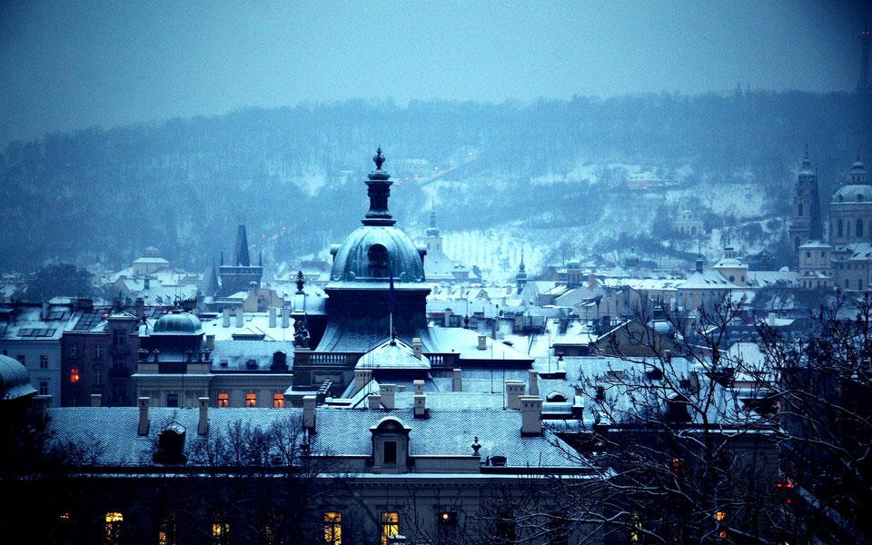 Photo de Prague sous la neige
