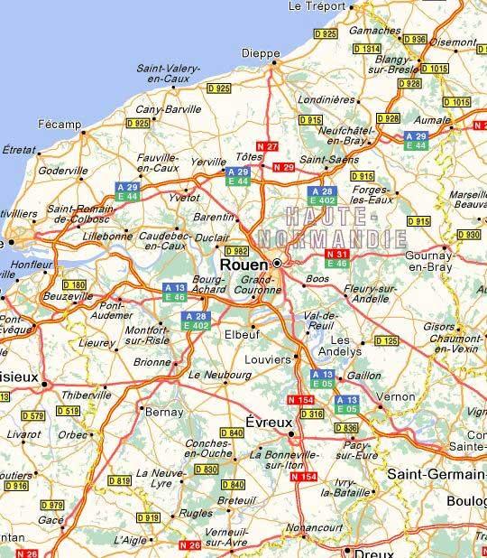 Carte – Région Haute-Normandie