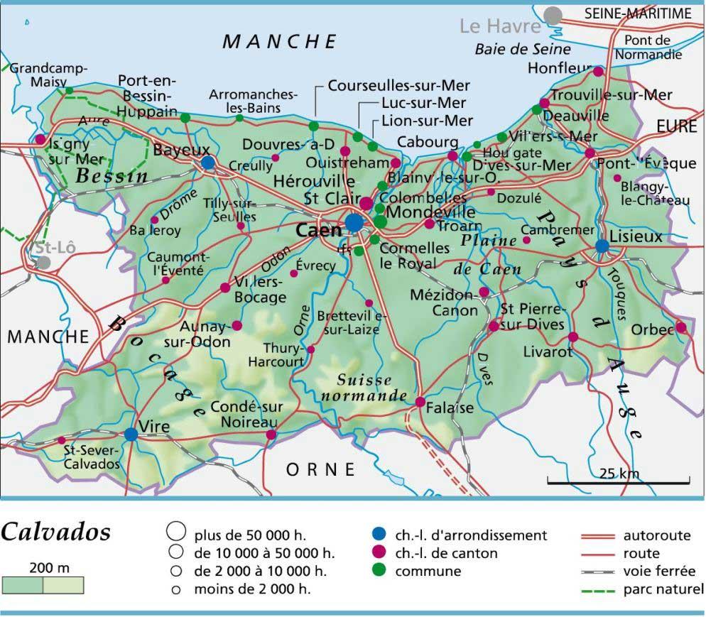 Carte – Département Calvados