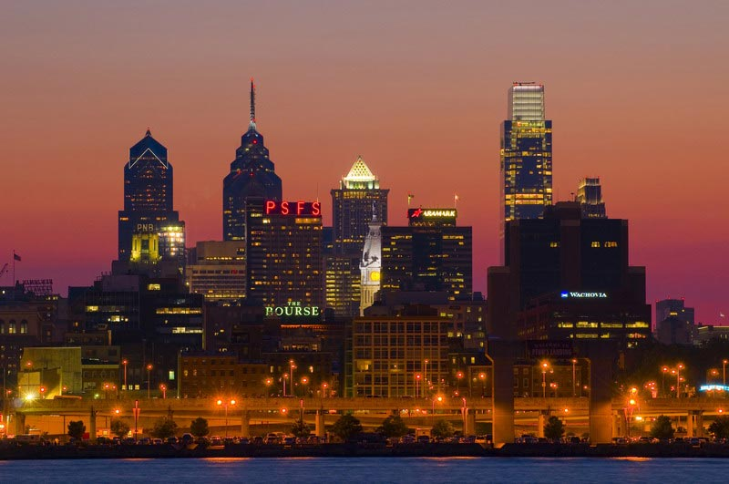 Philadelphie photo de nuit