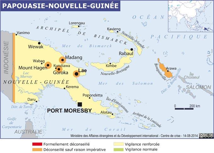 Papouasie Nouvelle-Guinée - Carte