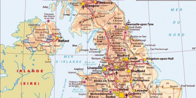 Carte de Grande-Bretagne