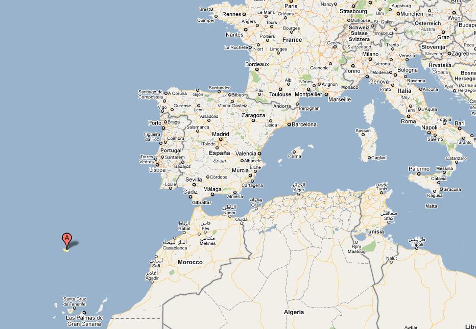 carte Ile de Madère