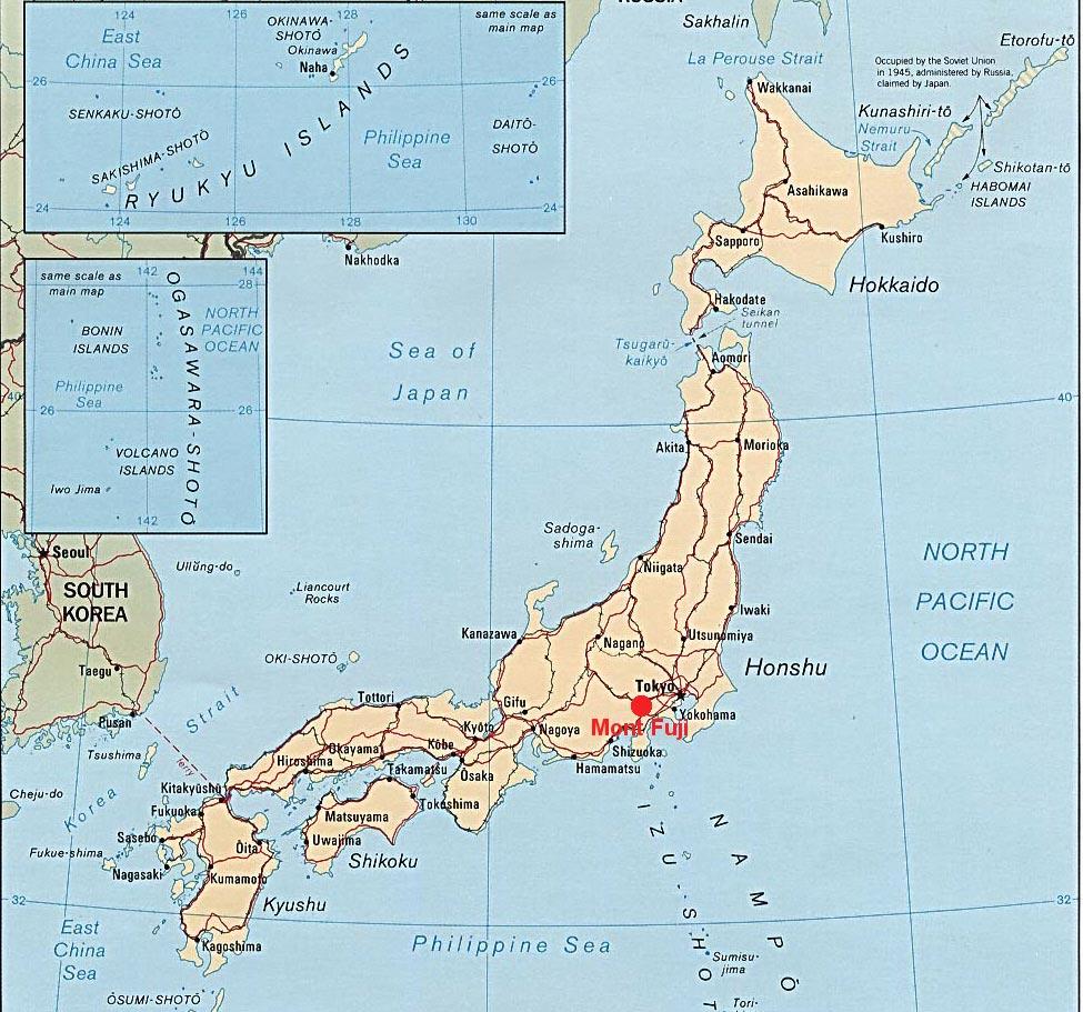 Carte du Japon - Le mont-fuji