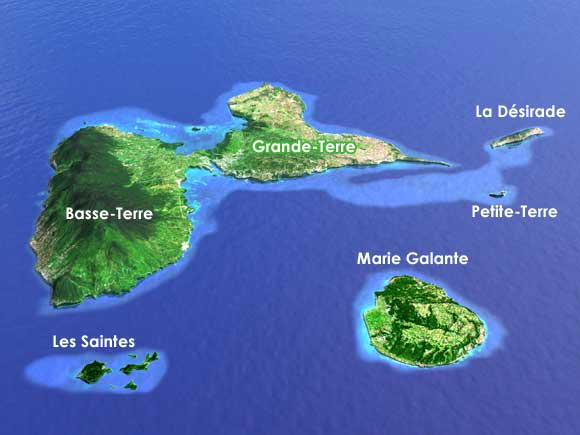 Guadeloupe - Carte 3D
