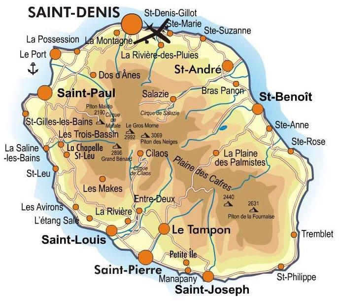 La Réunion - Carte