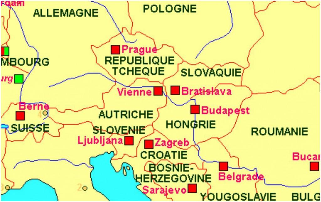 Carte de Prague - Europe