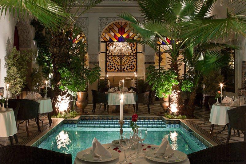 Un Riad - monceau- à Marrakech