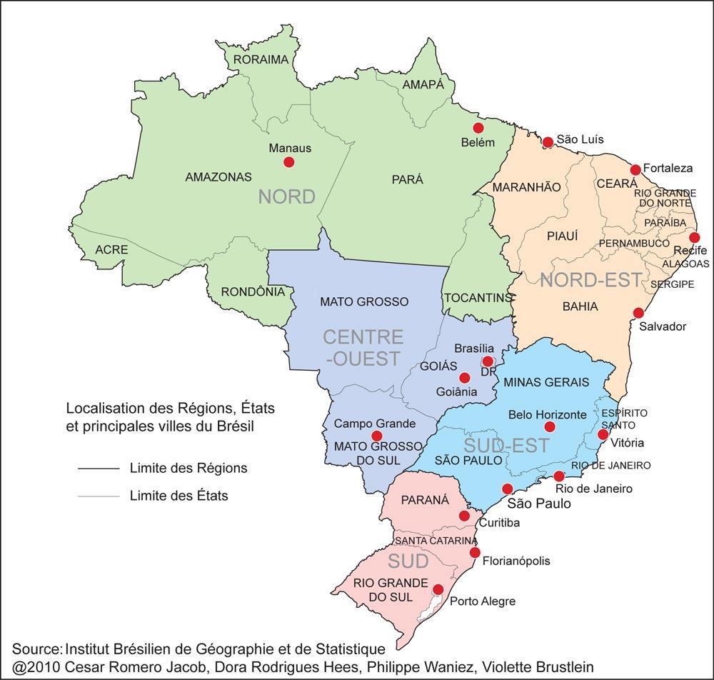 Brésil - Carte politique