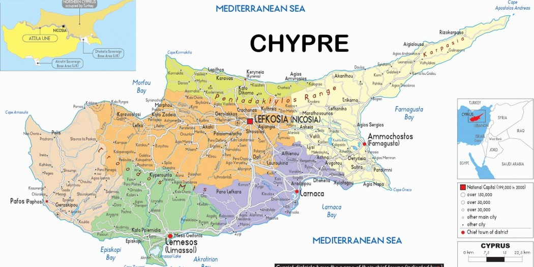 Voir Carte Chypre.Carte De Chypre Arts Et Voyages