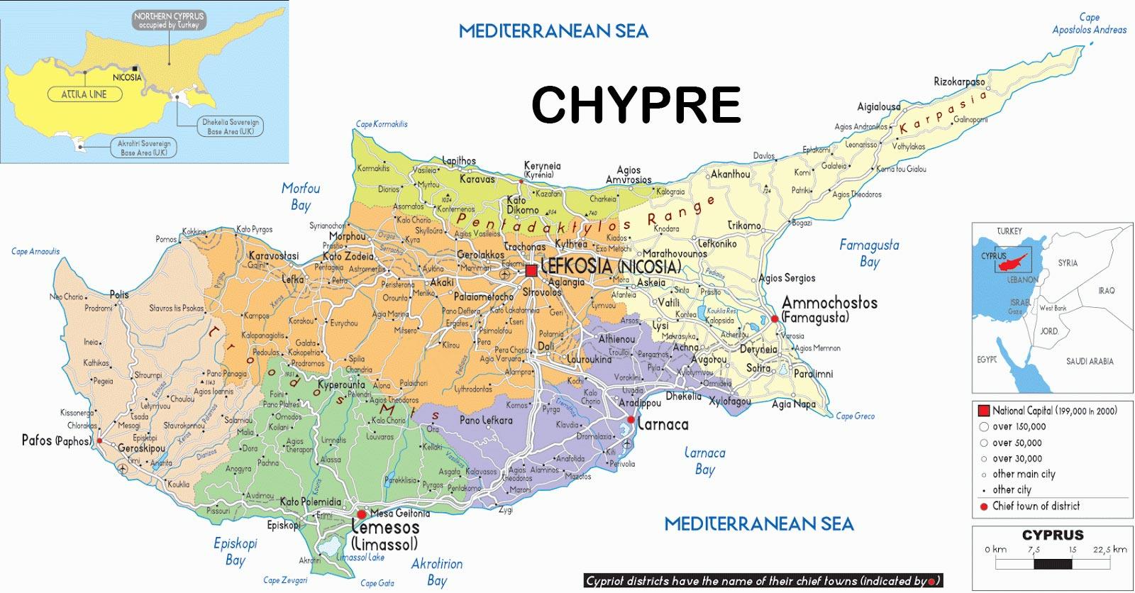 Carte De Chypre Arts Et Voyages