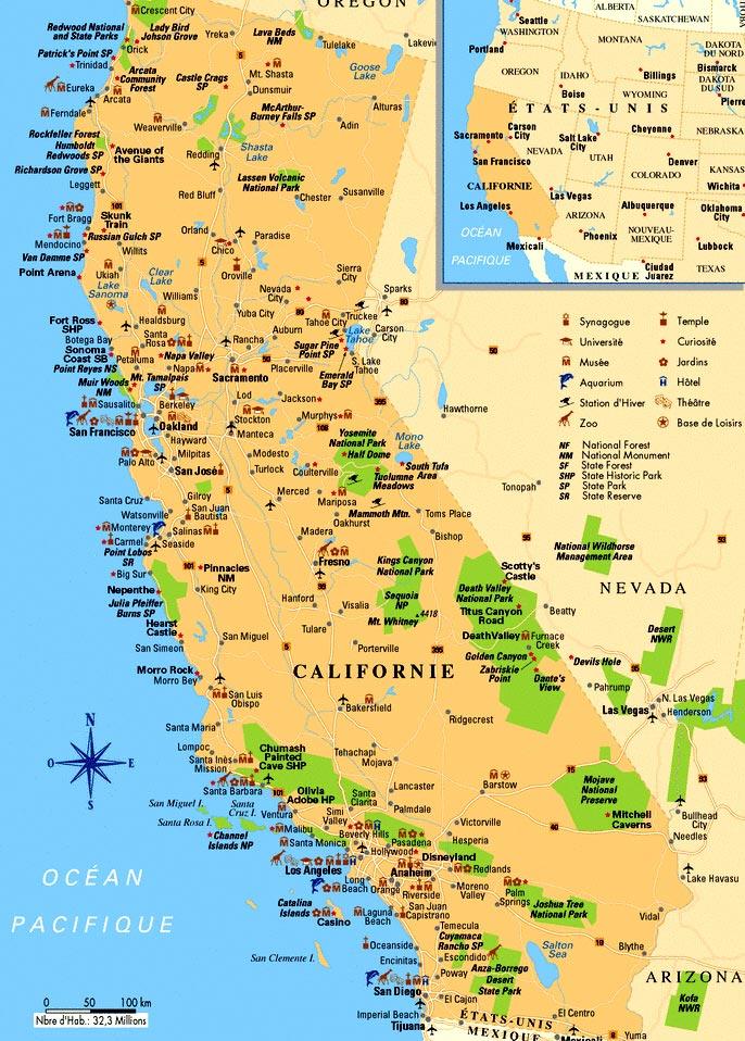 Californie - Carte