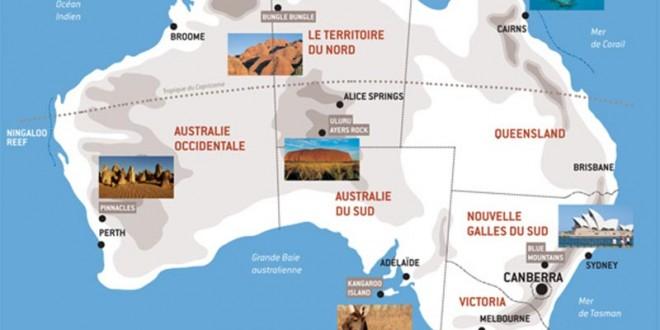 Australie - Carte Touristique