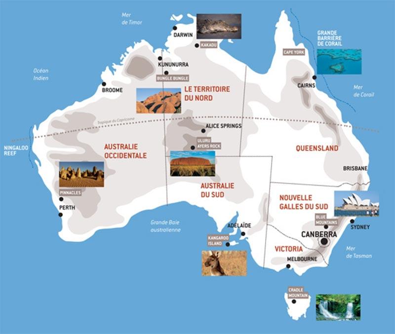 Carte Australie Surf.Partir En Australie Pour Le Sport Ou Les Vacances Arts Et