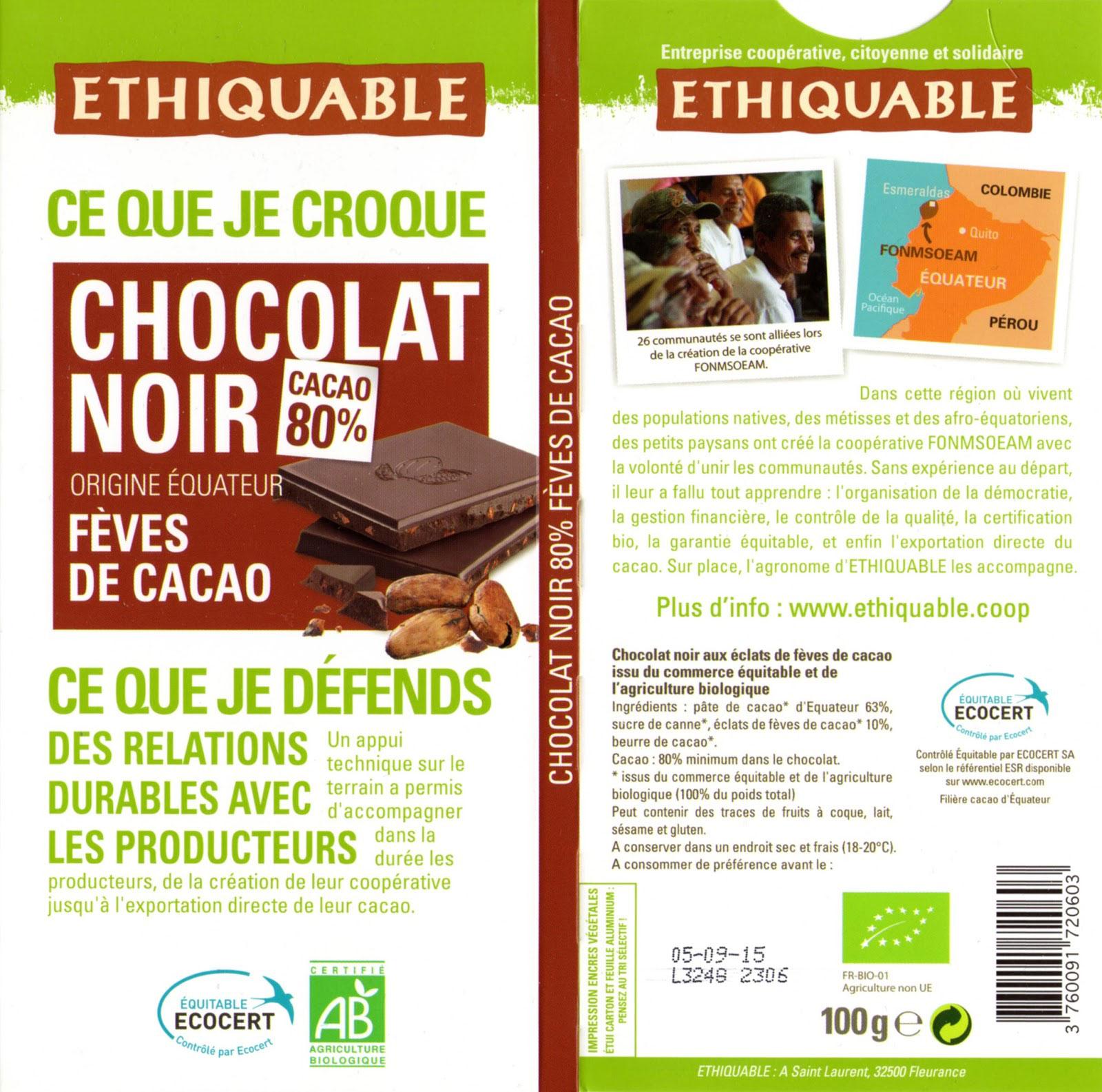 chocolat éthiquable
