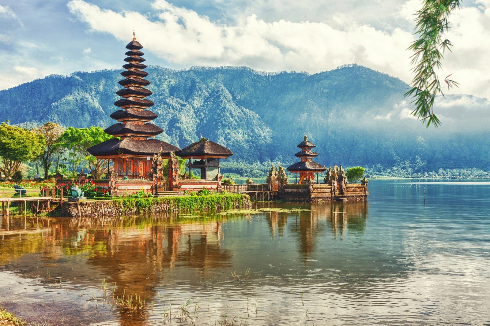 Paysage de Bali - Temple