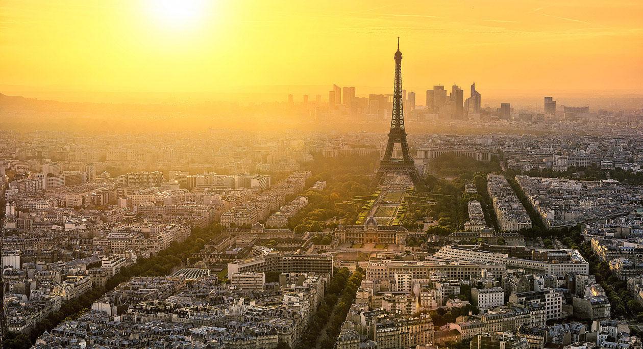 Photo - Coucher de soleil à Paris Ville