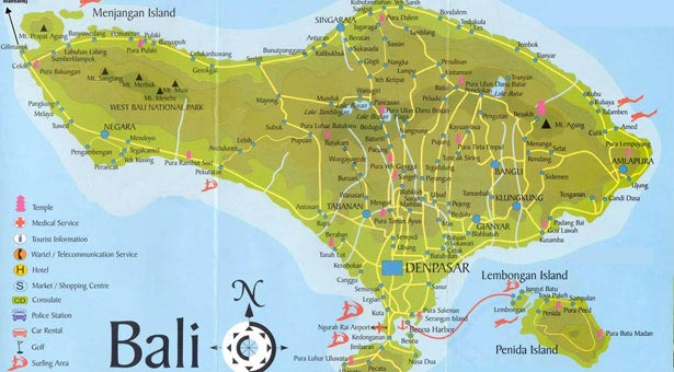 Carte de Bali