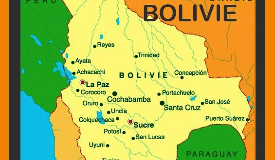 Bolivie - Carte