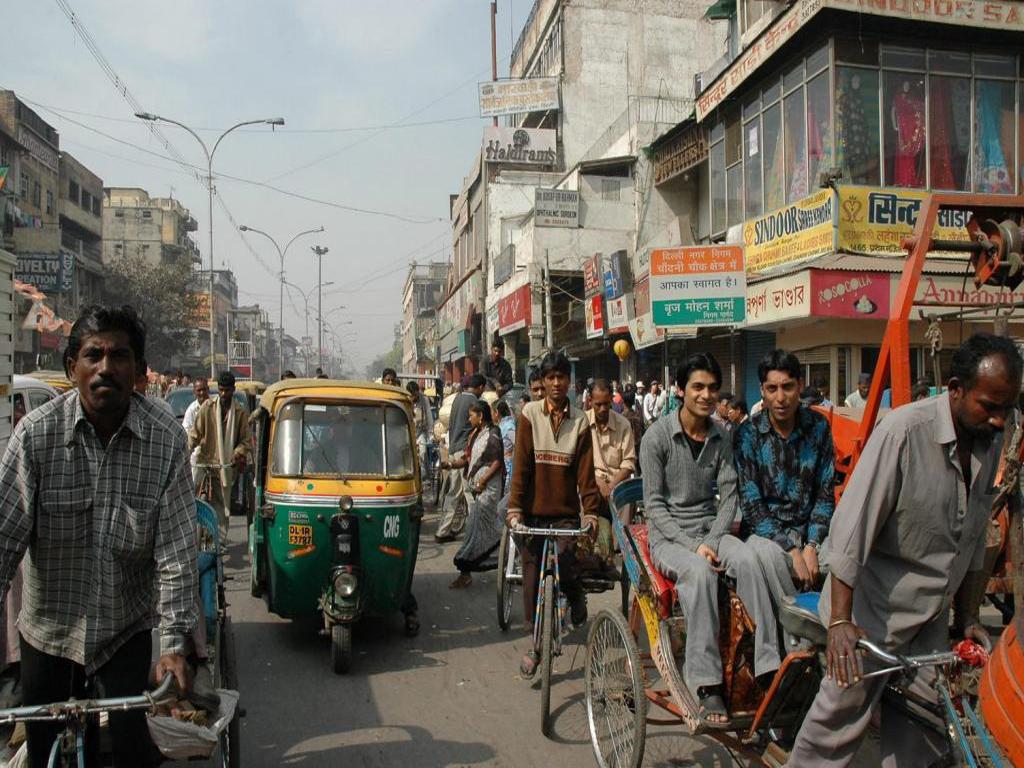 Une rue de new delhi