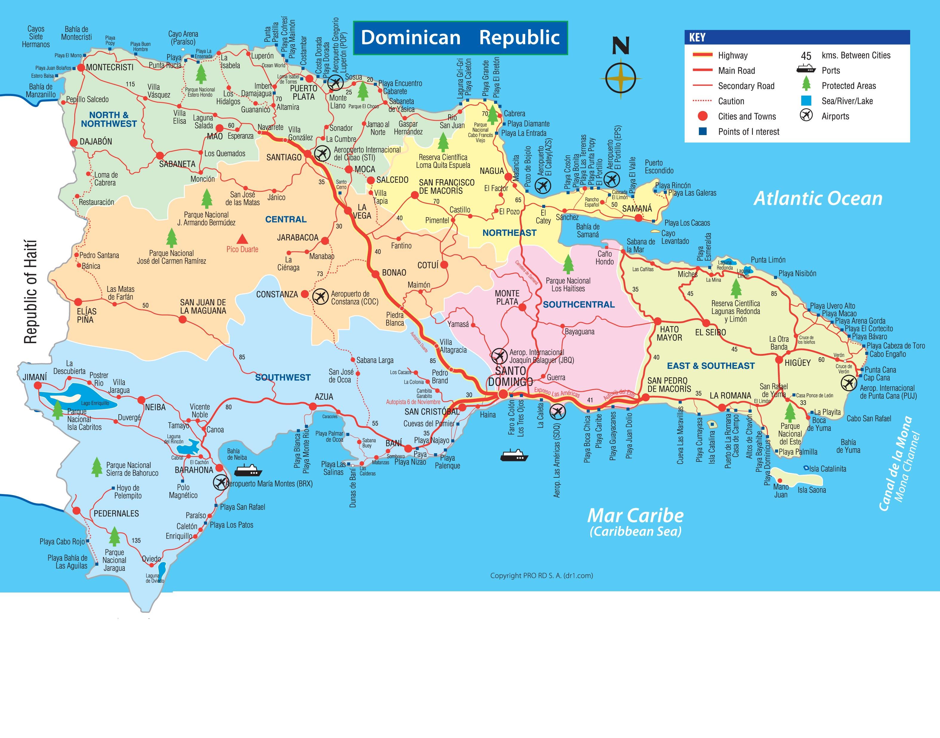 Carte Ville Republique Dominicaine