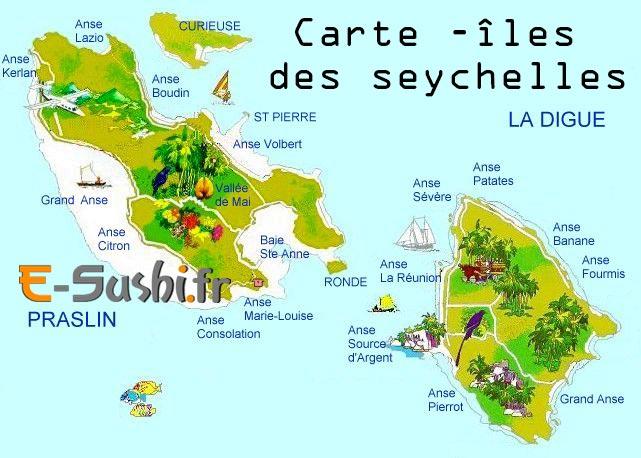 Carte - Iles des Seychelles