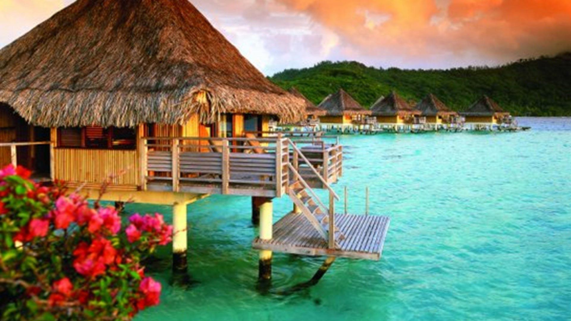 Hotel sur pilotis à Bora Bora