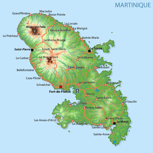 Anses d'Arlet - Carte