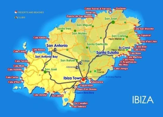Carte de Ibiza