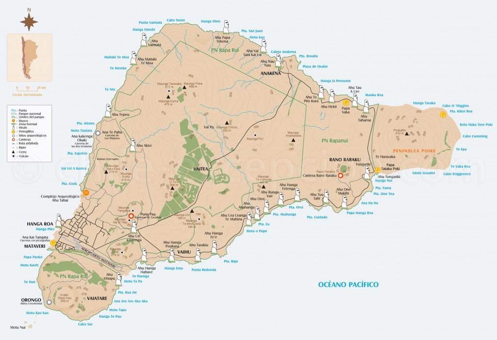 Ile de Paques - Carte