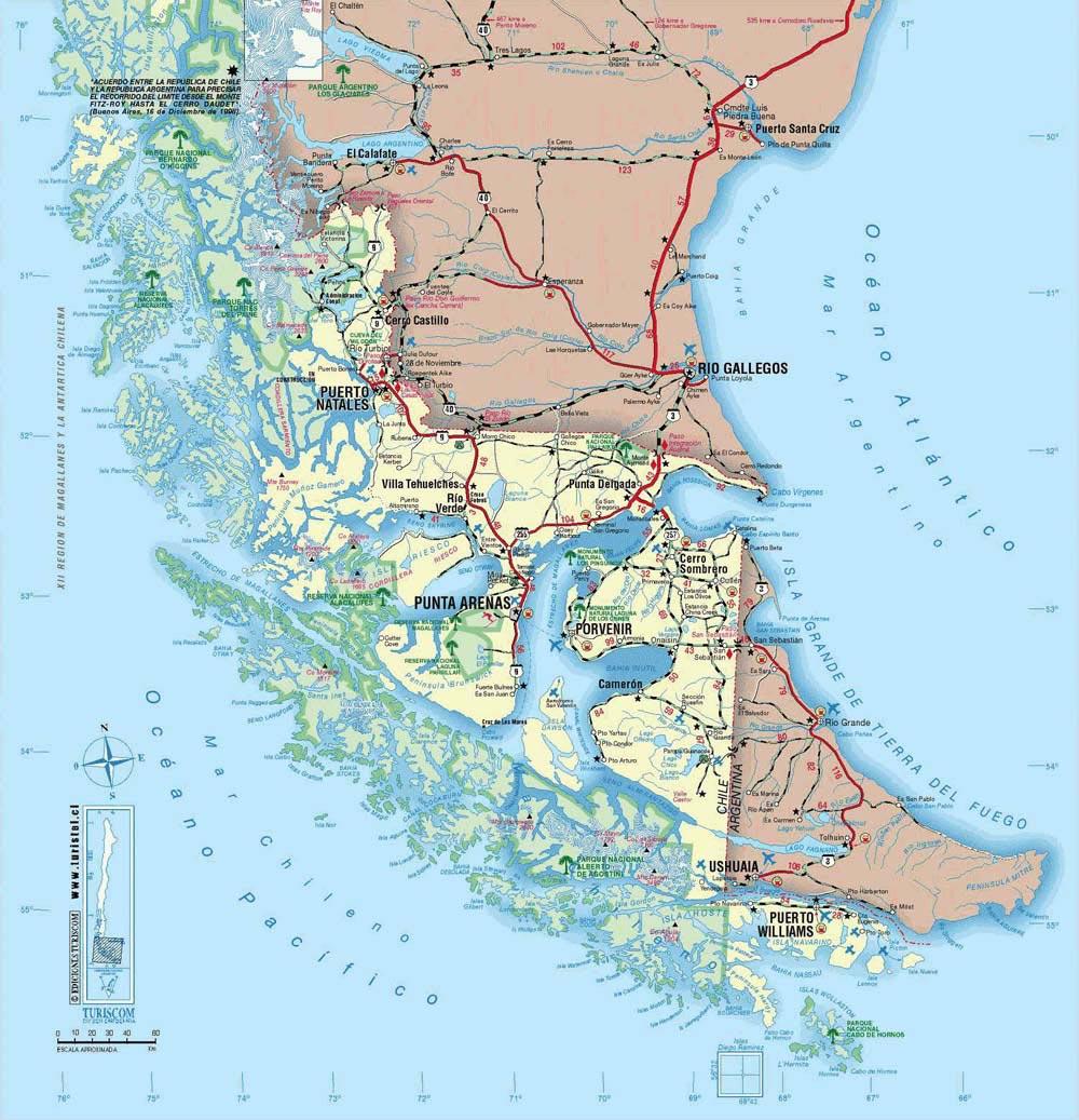 Patagonie - Carte