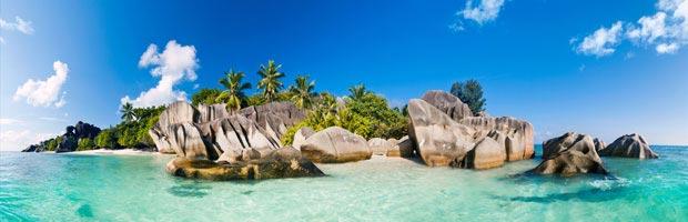 Le bleu azur des îles Seychelles