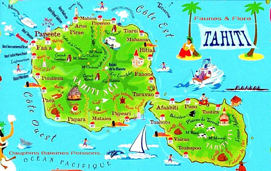 carte touristique de tahiti - Photo