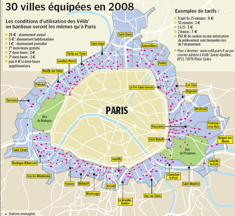 carte de paris et banlieu