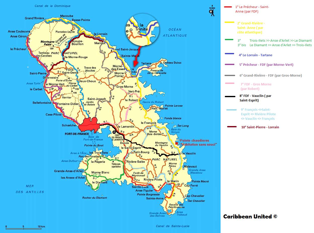 Carte de la Martinique   Images | Arts et Voyages