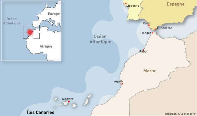 Carte des Canaries - Situation dans le monde