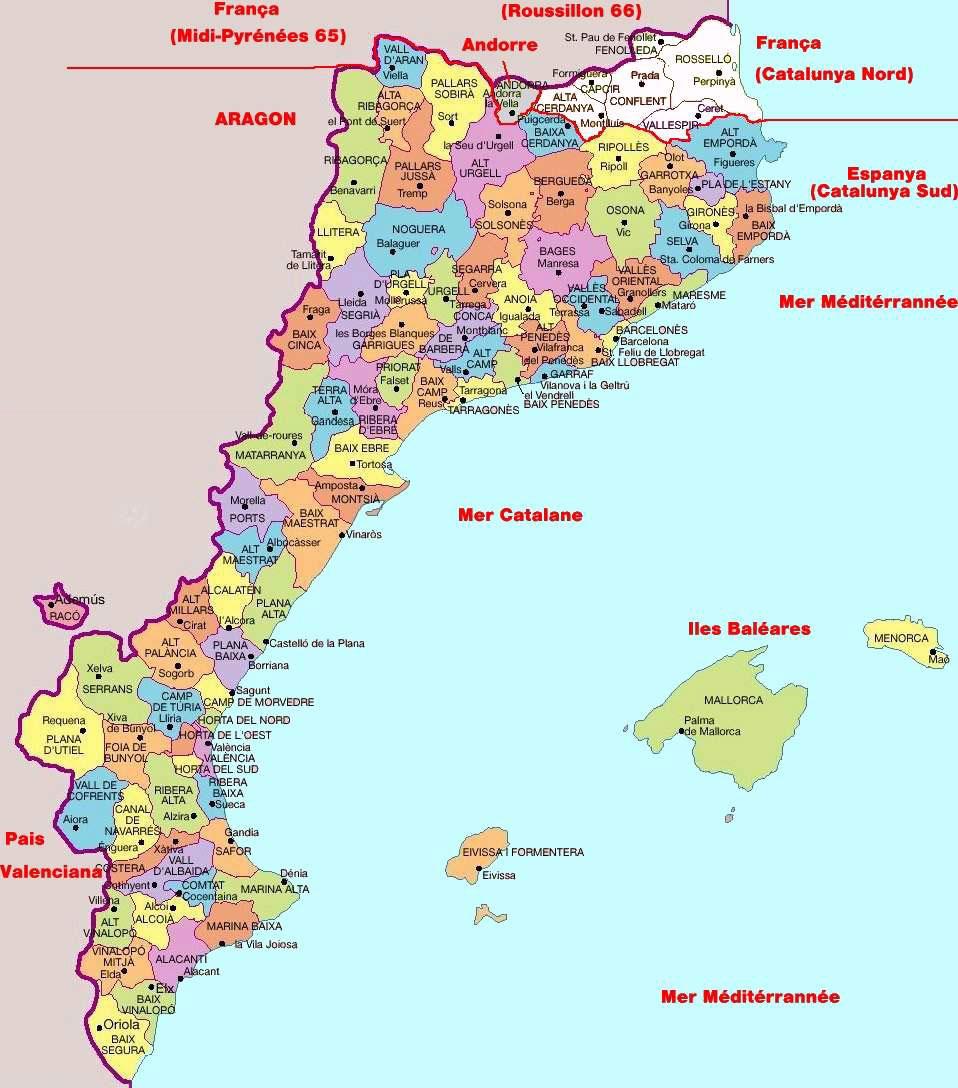 Carte Des Cote Espagnol | My blog