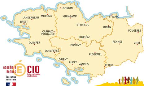 Villes Principales de Bretagne
