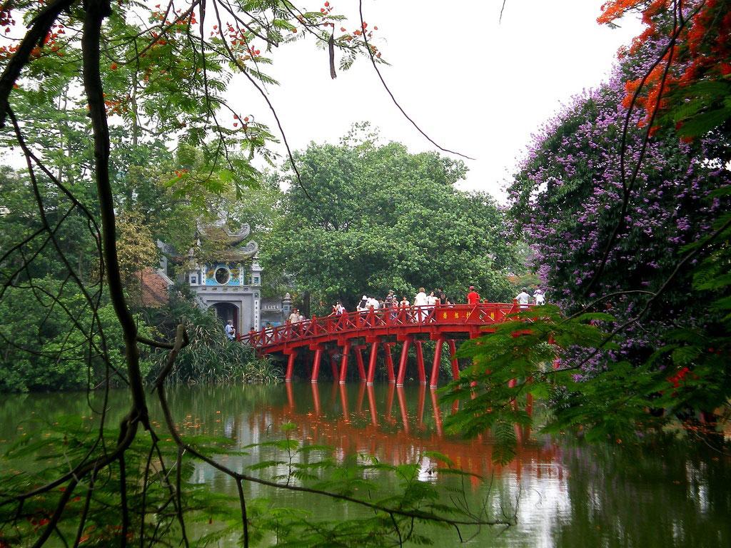 Hanoi - Photo du pont de Huc