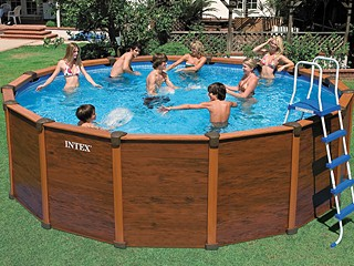 Piscine bois intex for Piscine hors sol aspect bois