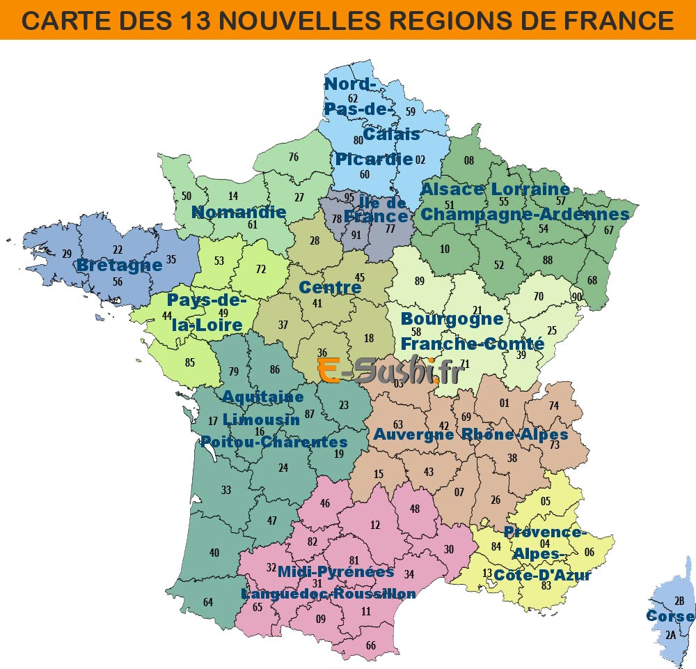 carte de france r gions et villes principales my blog. Black Bedroom Furniture Sets. Home Design Ideas