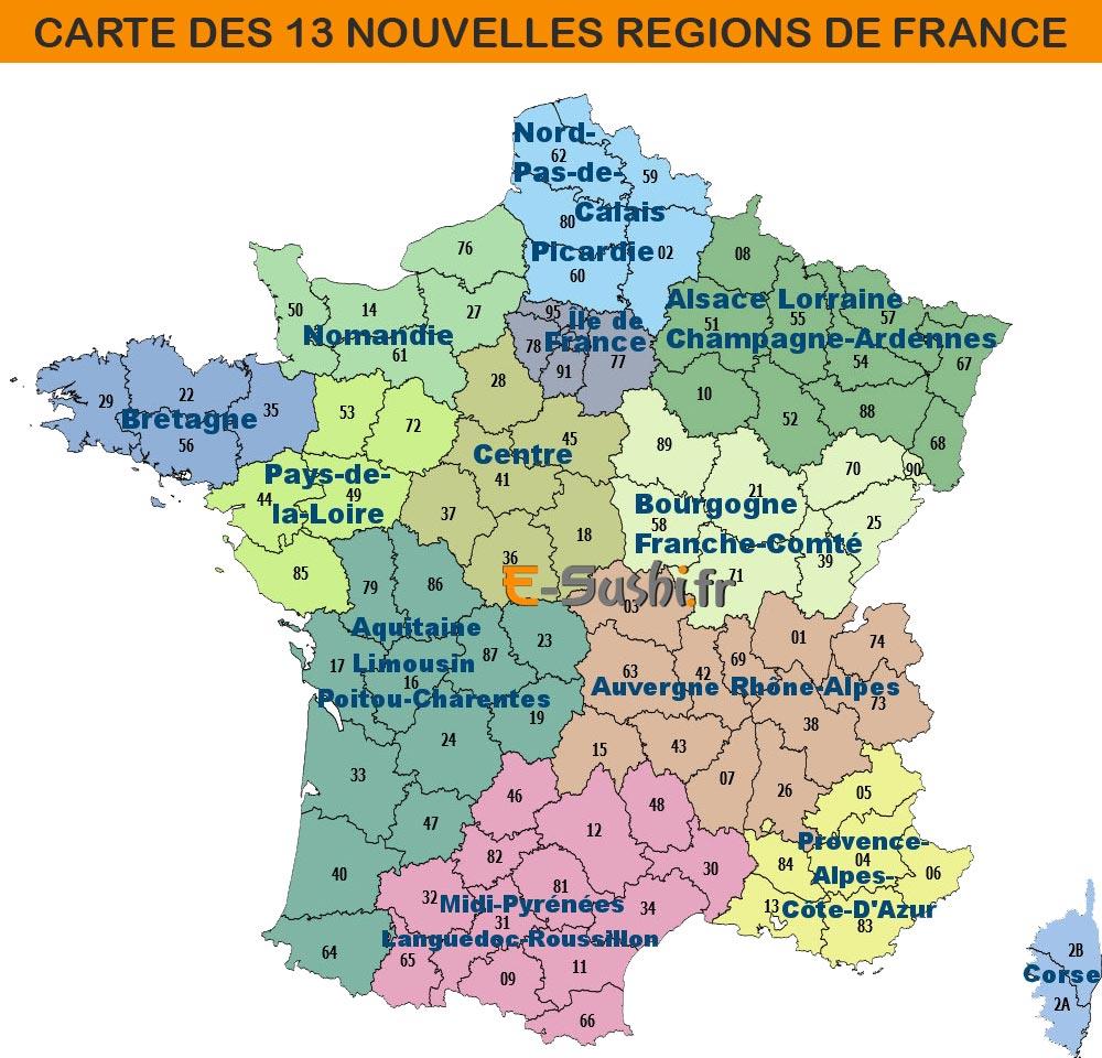 Carte De France Régions Et Villes Principales | popkensburg
