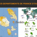 Carte des Départements français d'outre-mer